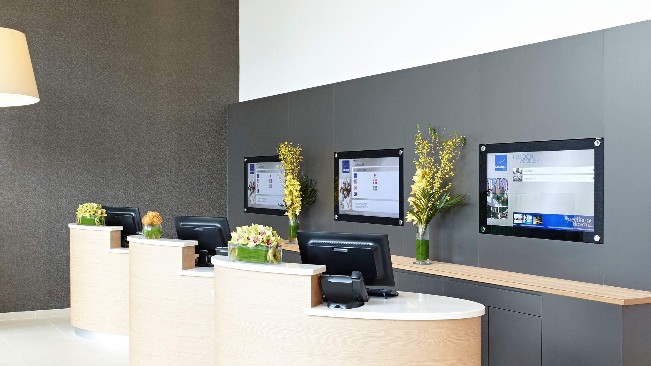 Reception of the Novotel Property Development in London